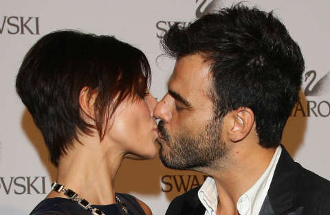 MILAN, ITALY - JUNE 07:  Actress Ambra Angiolini and singer Francesco Renga attend the Swarovski Fashionation at Palazzo Reale on June 7, 2011 in Milan, Italy.  (Photo by Vittorio Zunino Celotto/Getty Images)
