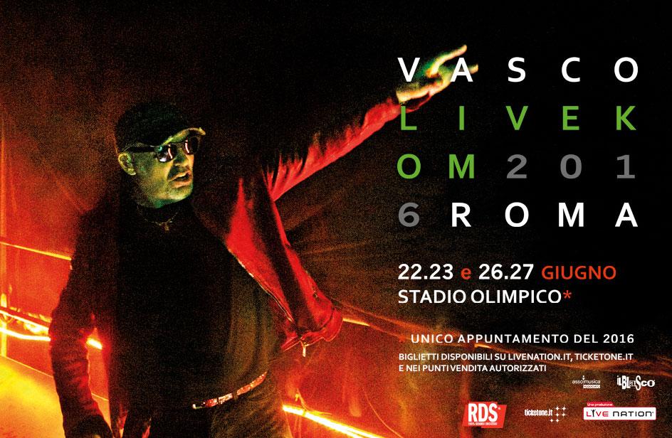 #SaveTheDate 22.23 e 26.27 giugno: Vasco più live che mai con RDS!