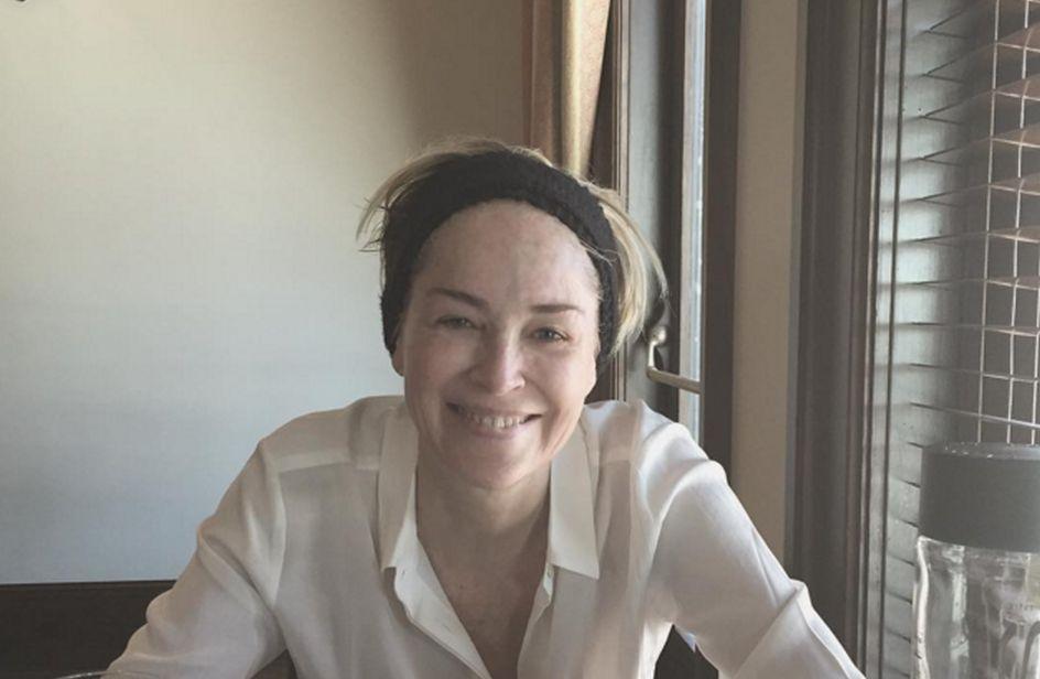 Sharon Stone No Makeup Sharon Stone senza mak...