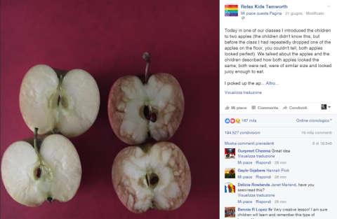 Spiegare il bullismo con le mele
