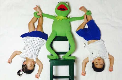 Quadri con bambini che dormono