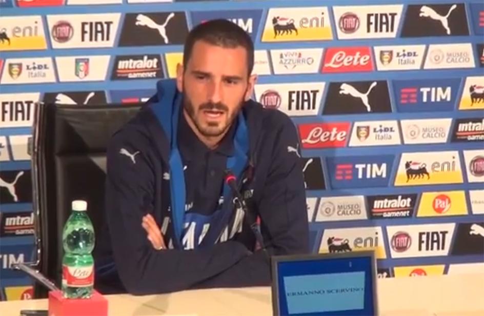 Leonardo Bonucci: in lacrime parlando del figlio