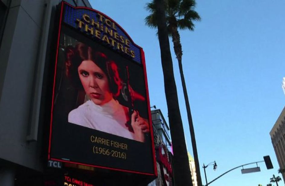 Addio Carrie Fisher, principessa dei nostri sogni