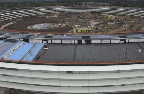 Campus 2 di Apple: il drone mostra i lavori quasi finiti