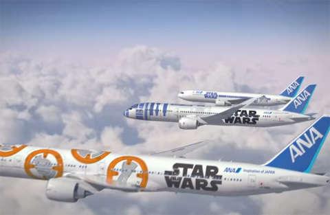 Gli aerei Star Wars sono pronti per decollare in Giappone
