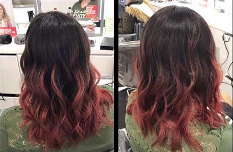 I capelli prima e dopo di una donna depressa