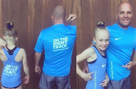 Il papà imita la figlia ginnasta ed è tutto da ridere!