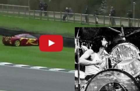 Nick Mason dei Pink Floyd schianta la McLaren contro il muro