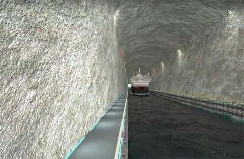 Il primo tunnel per grandi navi verrà costruito in Norvegia