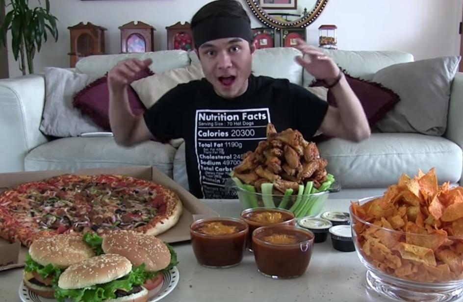 Matt Stonie: da anni assimila migliaia di calorie senza prendere peso