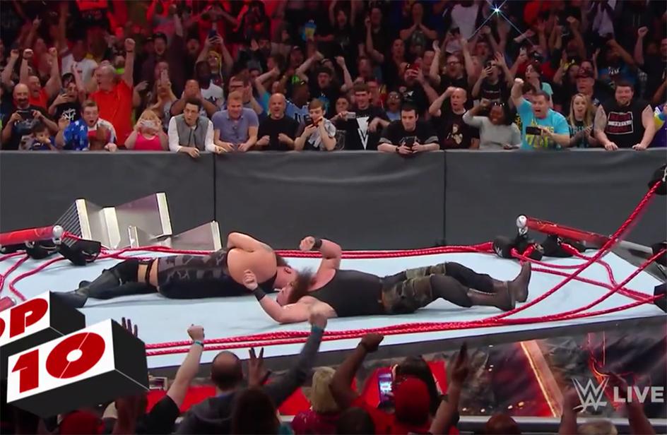 Il Wrestler Big Show esagera e distrugge il ring