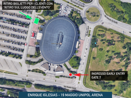Bologna, Unipol Arena - Ingresso Early Entry