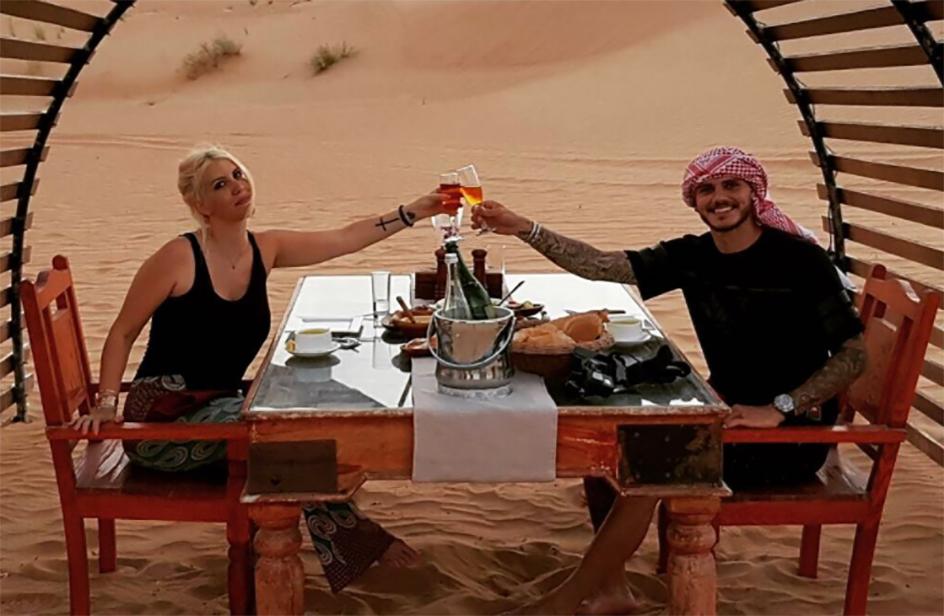 La famiglia Icardi in vacanza a Dubai in una villa da sogno