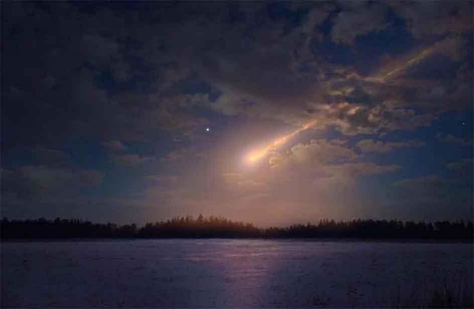 Un meteorite solca i cieli del nord avvistato anche da for Meteorite milano