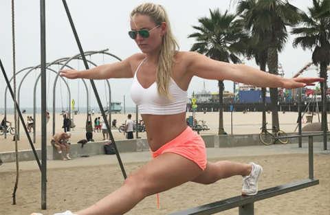 L'allenamento impossibile di Lindsey Vonn!